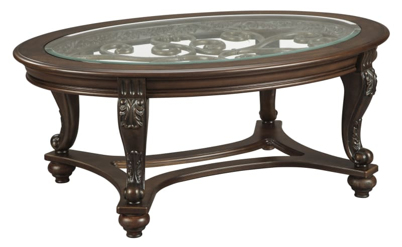 norcastle oval coffee table glass top