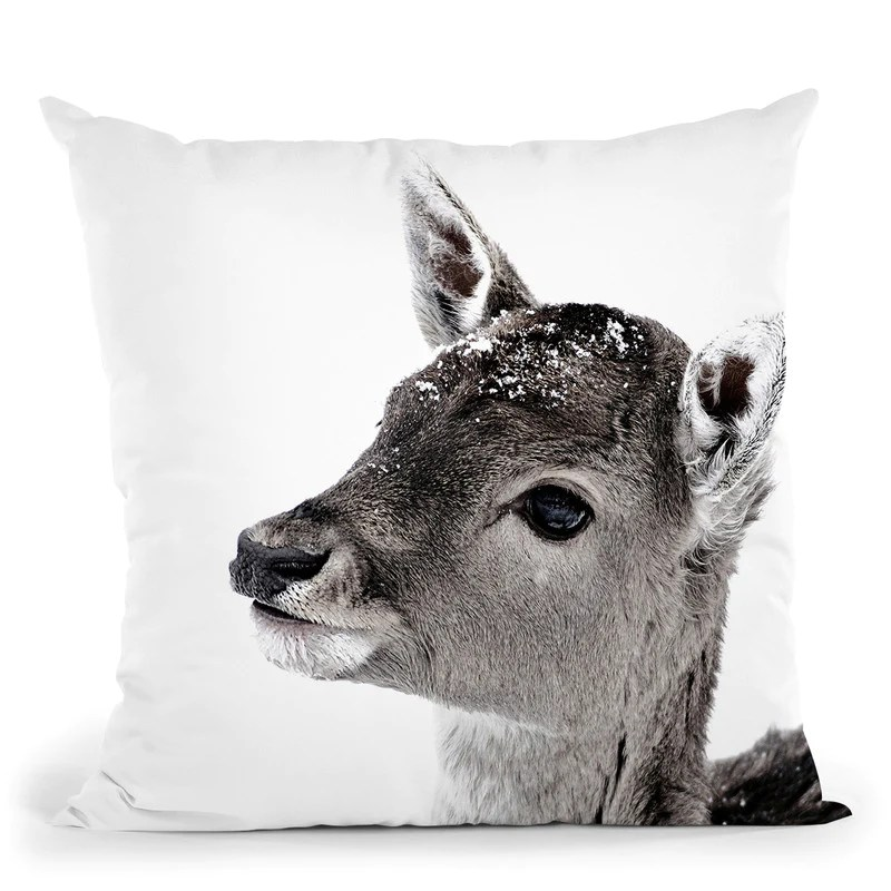 scandi fawn fiona throw pillow by monika strigel all about vibe