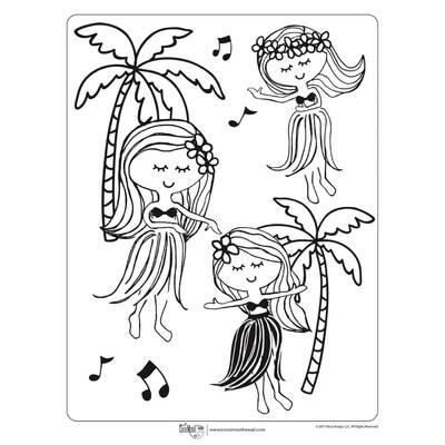 Free Hawaiian Coloring Pages By Coco Moon Hawaii