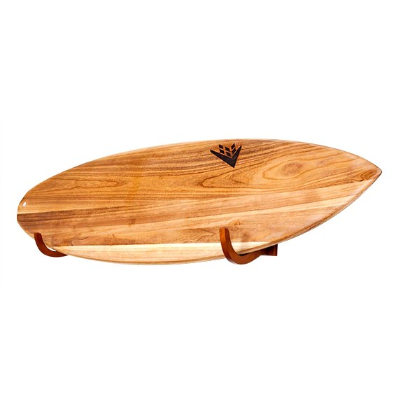 single surfboard wooden wall rack