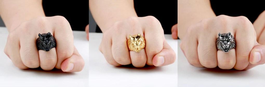 Norse Wolf Ring Viking Meta