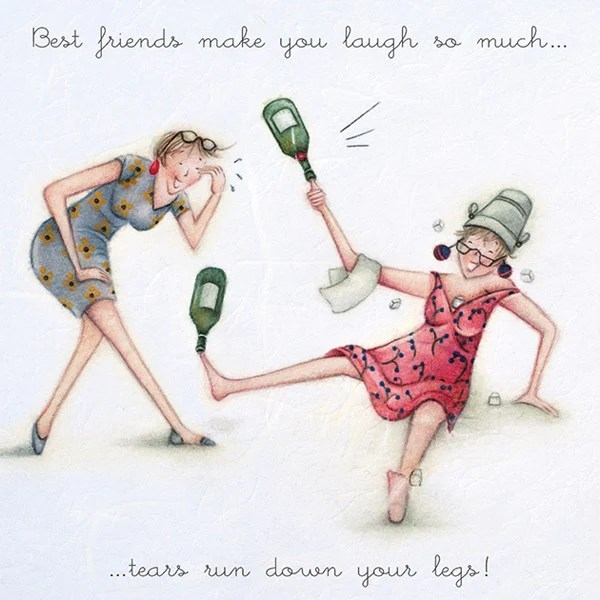 Best Friends Birthday Card Best Friends Make You Laugh So Much Te Gingerinteriors Co Uk
