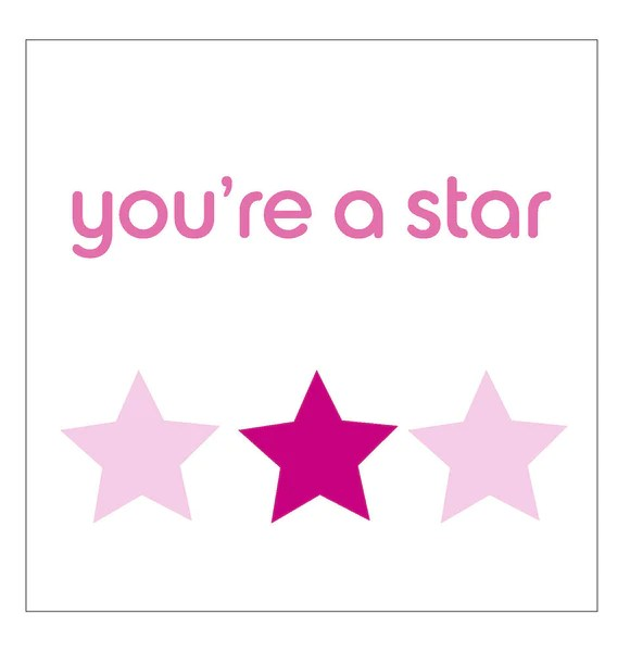 Youre A Star Set Of 5 Cards Breast Cancer Care