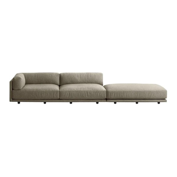 blu dot sunday long and low left sectional sofa design public