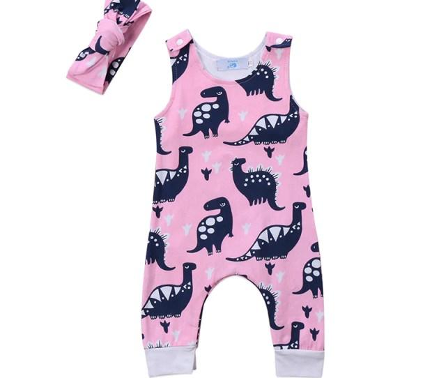 Pink Dino Jumpsuit Munchkingear Com