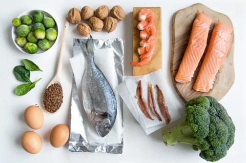 Omega 3 fatty acid food collection