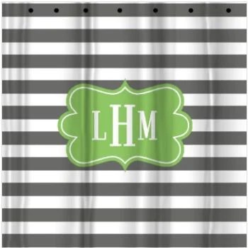monogrammed custom shower curtain