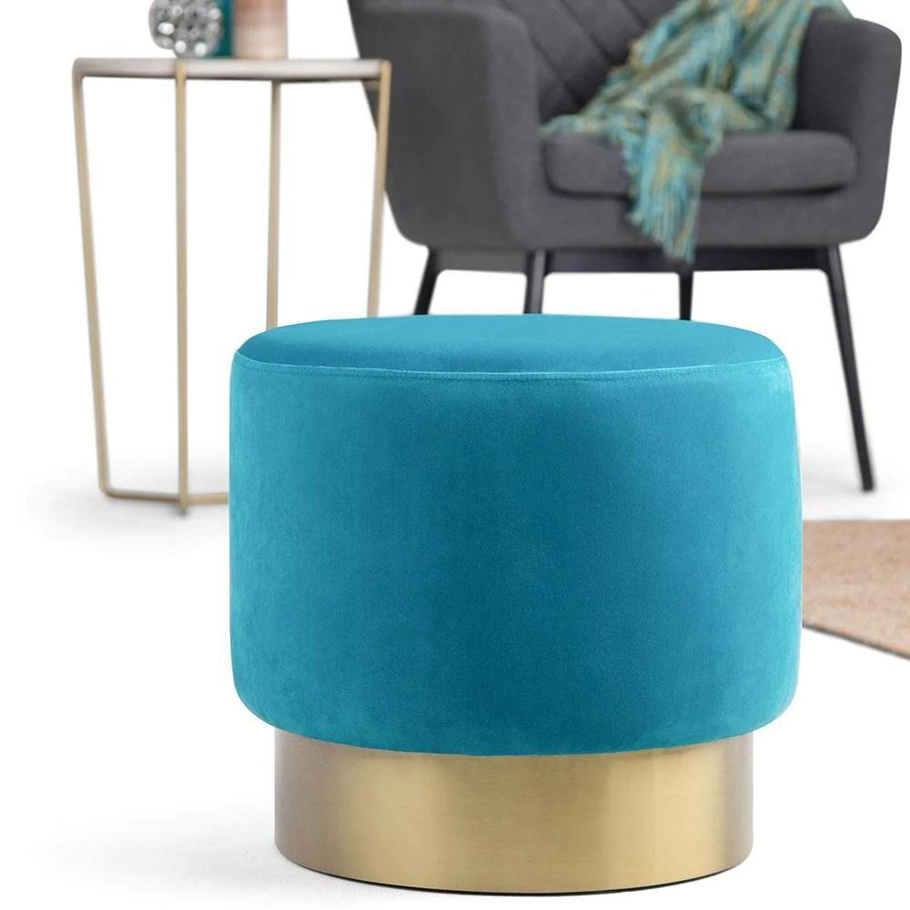 bardoe small round ottoman footstool