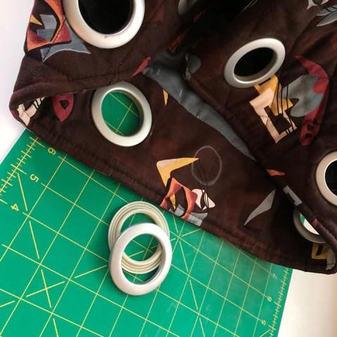 dritz curtain grommets tutorial