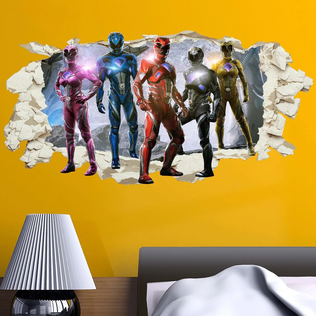 blue power ranger decal removable wall