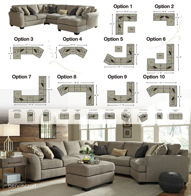 hilltop oversized sectional with cuddler or chaise