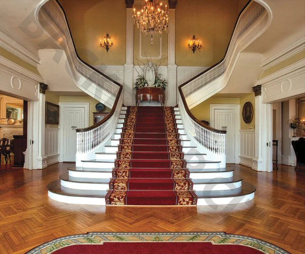 Southern Mansion Stair Backdrop Backdrop City