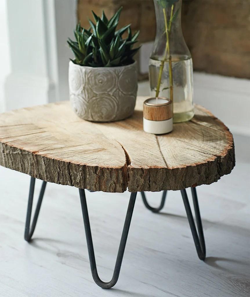 diy tree slab coffee table makeetc com