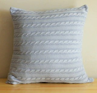 cable knit throw pillow cover 6 colors