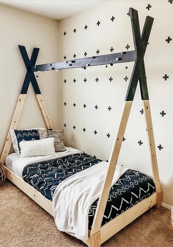 DIY Kids Teepee Bed Handmade Haven