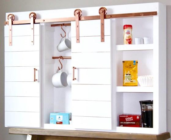 DIY Coffee Bar 17 1024x1024 - DIY Barn Door Coffee Bar Center