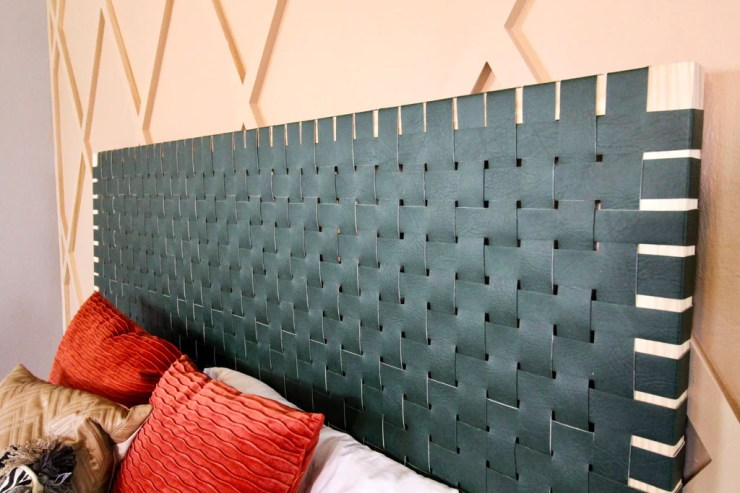 DIY Leather Woven Headboard 16 1024x1024 - DIY Leather Woven Headboard