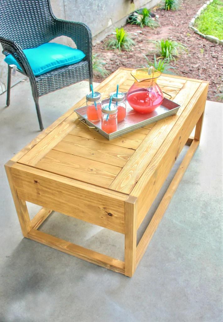 DIY Modern Outdoor Coffee Table 1024x1024 - DIY Outdoor Coffee Table