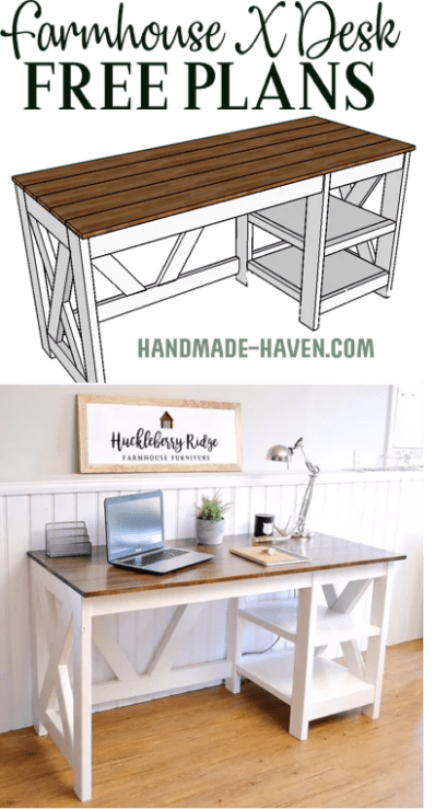 Farmhouse Office Desk. 5 1024x1024 - DIY Plant Stand