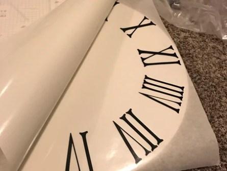 IMG 1576 grande - Roman Numeral Clock Tutorial