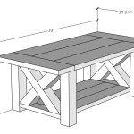 Diy Chunky Farmhouse Coffee Table Coffee Table Plans Handmade Haven