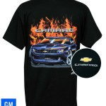 2010 2011 2012 2013 2014 5th Gen Camaro Ss Flame T Shirt Black Gm Lice Bowtiemuscleparts