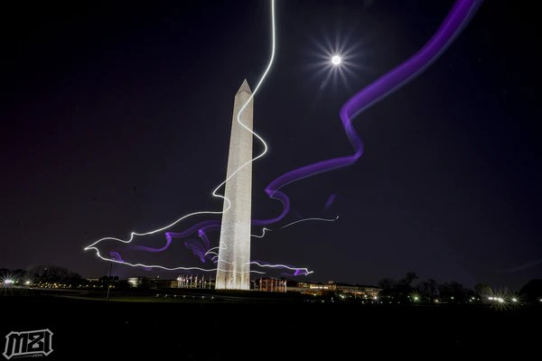 Washington Monument Light Trails