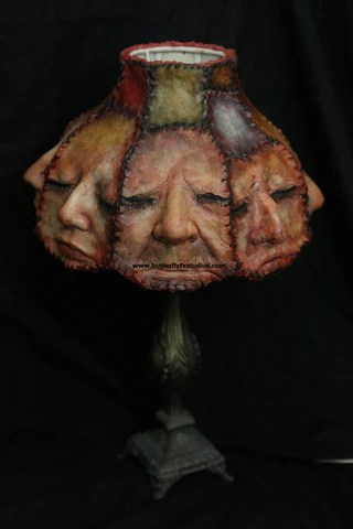 A Human face Carousel Lamp OOAK