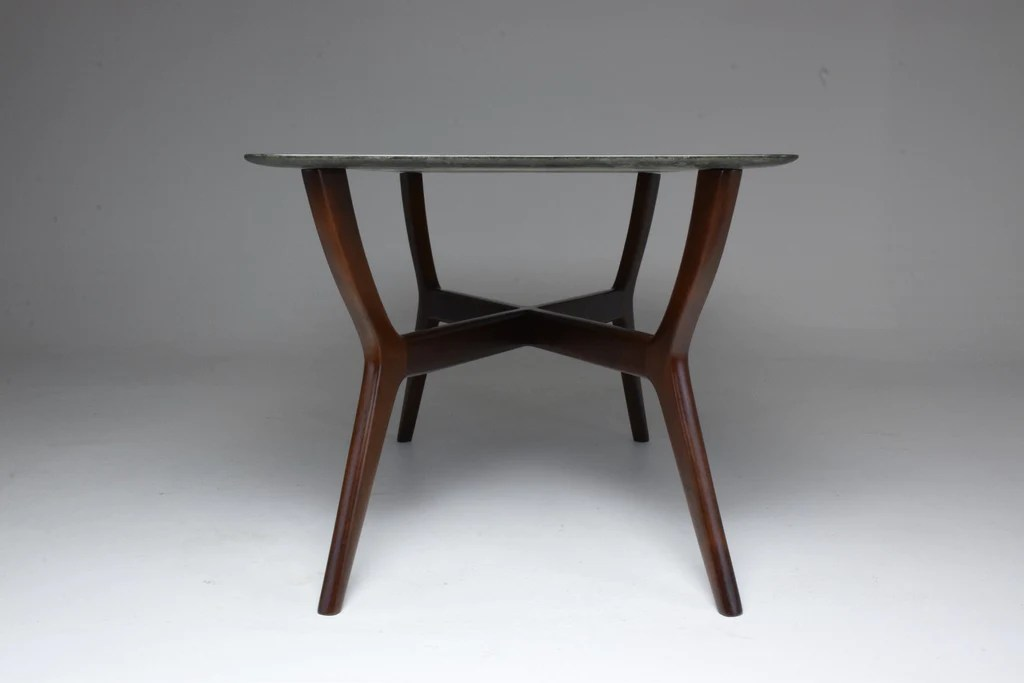 italian midcentury coffee table in guatemala marble gio ponti style