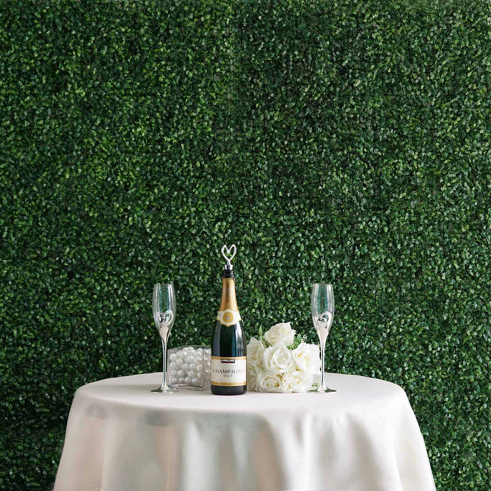 11 Sq Ft 4 Panels Artificial Boxwood Hedge Small Leaves Faux