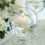 3 White Disc Unscented Floating Candles Candle Centerpieces Efavormart