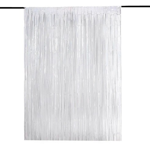 metallic foil fringe curtain doorway and party backdrop curtain efavormart