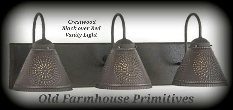 Crestwood Primitive Bathroom Vanity Light Old Farmhouse Primitives