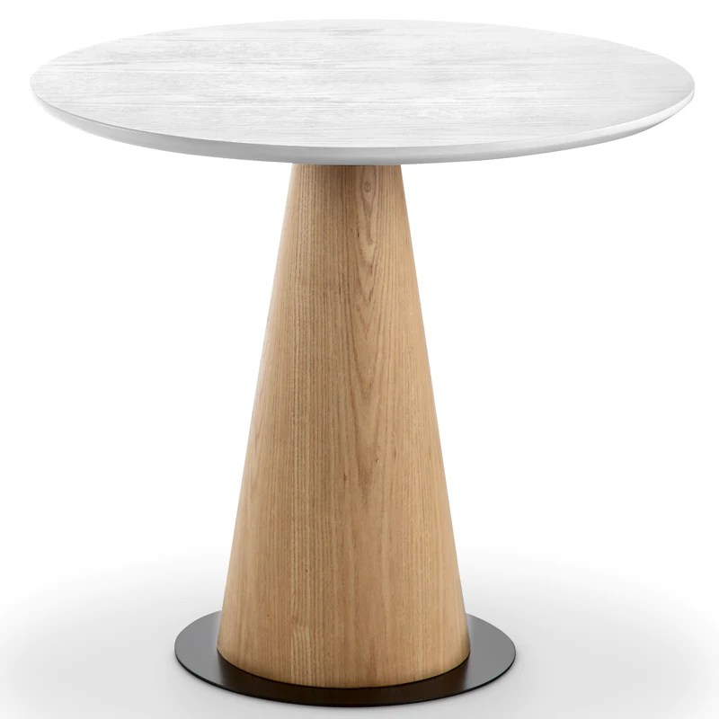 Dallin Coffee Table 50cm Top Ash White Modern