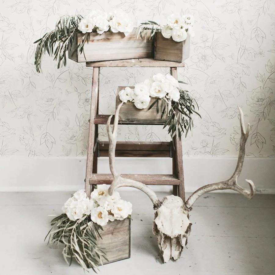 Subtle Floral Peel Stick Removable Wallpaper Livettes