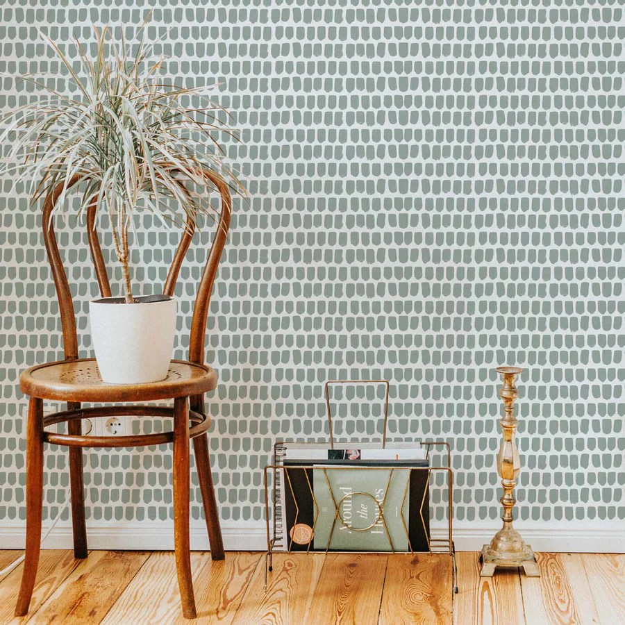 Brush Stroke Print Wallpaper In Sage Livettes
