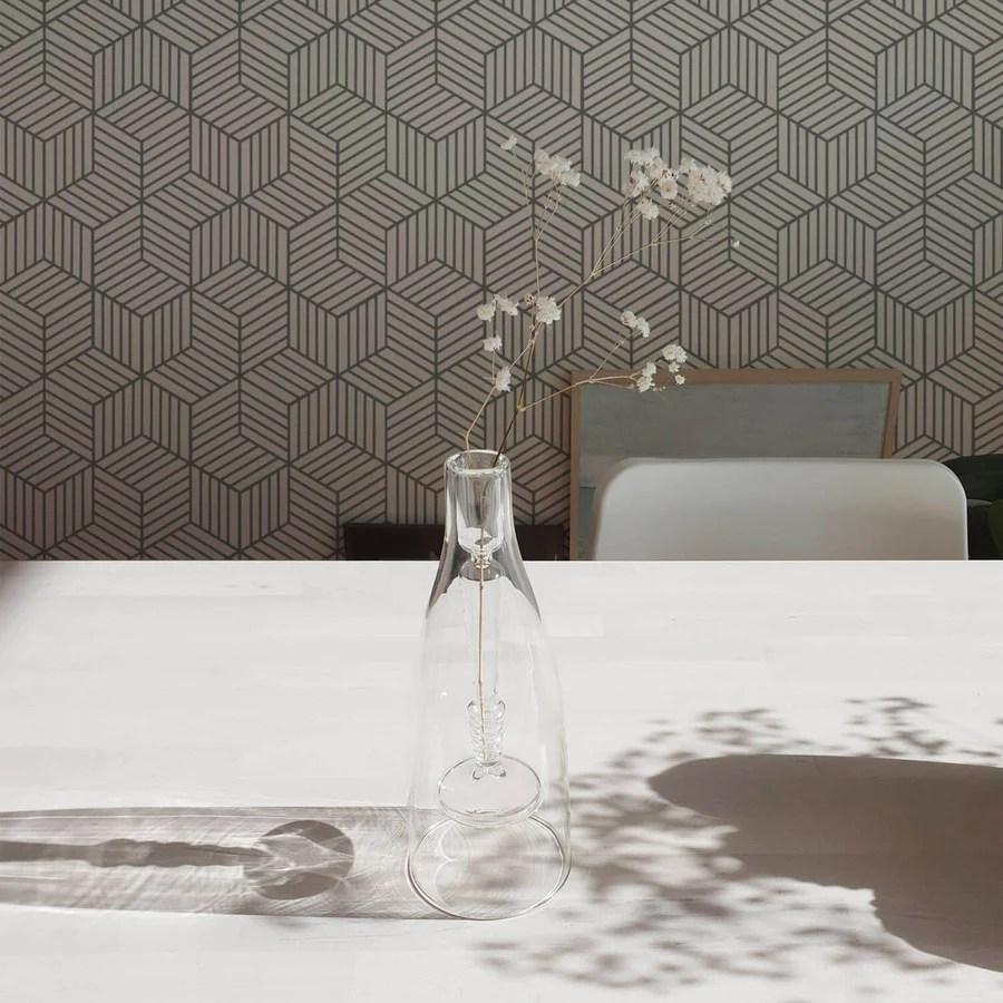 Grey Cube Design Removable Wallpaper Designer Wallpaper By Livettes