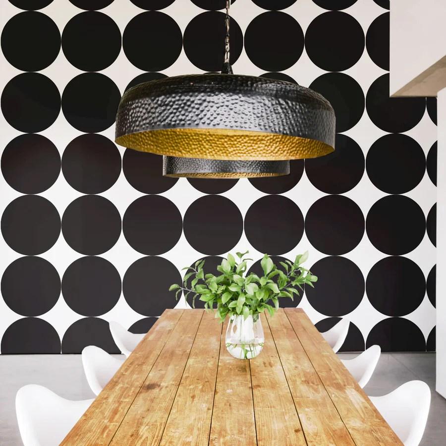 Modern Black White Removable Wallpaper By Livettes