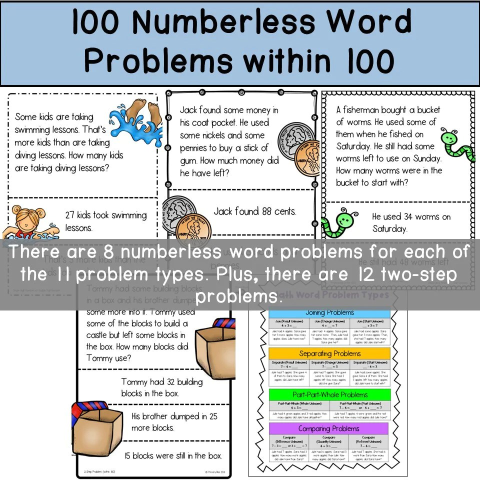 1st Grade Math Word Problems
