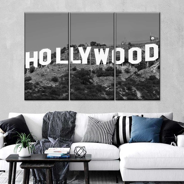 Hollywood Sign Multi Panel Canvas Wall Art