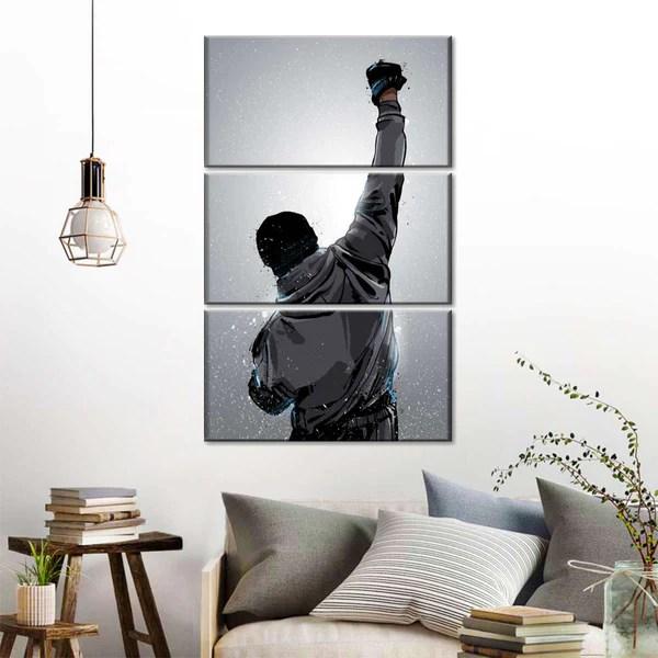 Rocky Win Multi Panel Canvas Wall Art