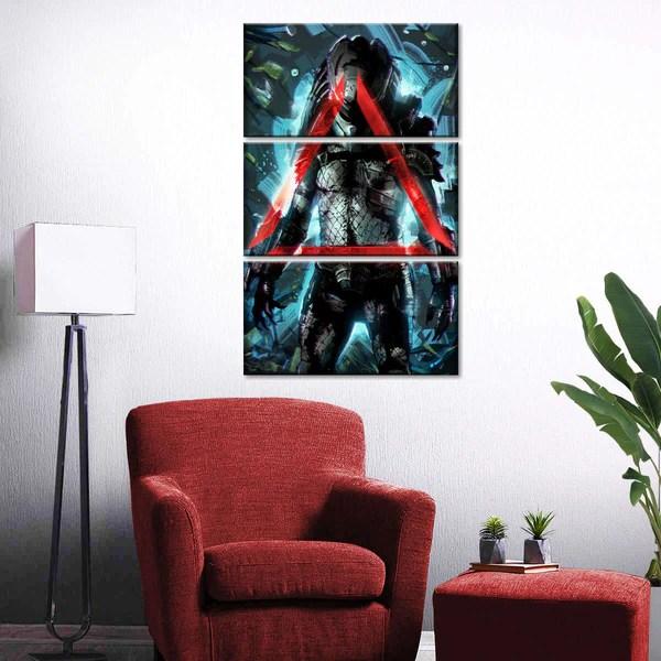 Predator II Multi Panel Canvas Wall Art