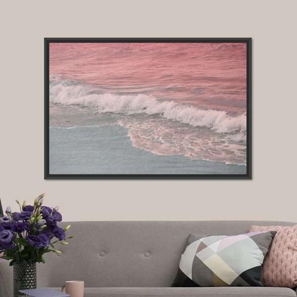Pastel Ocean Multi Panel Canvas Wall Art