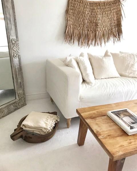 minimal reclaimed wood rustic coffee table natural