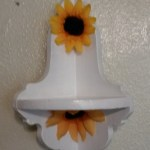 Shelf Corner Sunflower Small White Hand Painted Shelf Jamscraftcloset