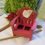Salt And Pepper Holder Beach Adirondack Chair With White Paper Flower And Starfish Accents