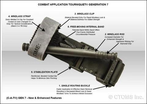 CTOMS Combat Application Tourniquet CAT, GEN 7, Black