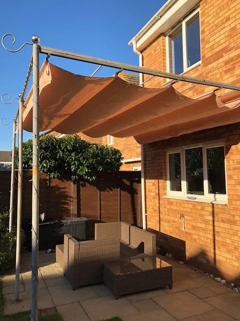 canopy for 3 3m x 3m retractable patio gazebo wall mounted