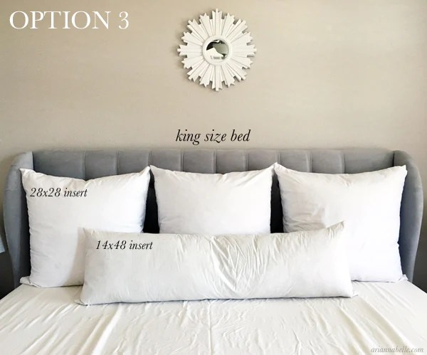 pillow size guide for king beds