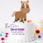 Farm Theme Horse Smash Cake Topper Diaper Rosie S Posh Parties